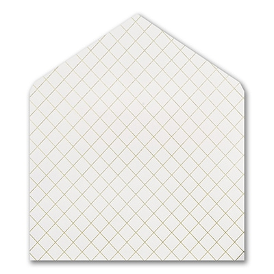 Gold Foil Quilted Jumbo Liner - White