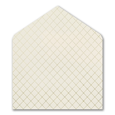 Gold Foil Quilted Jumbo Liner - Ecru