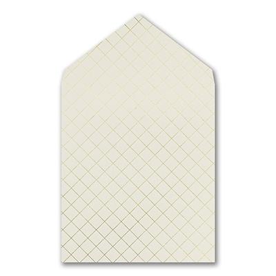 Gold Foil Quilted Imperial Liner - Ecru
