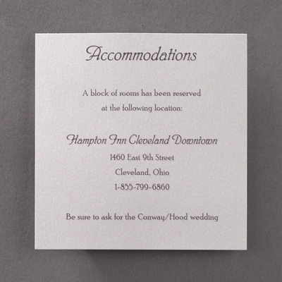 Rustic Wood - Accommodation Card