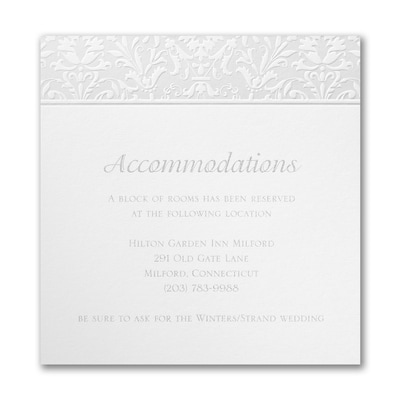Shining Damask Accommodation Card