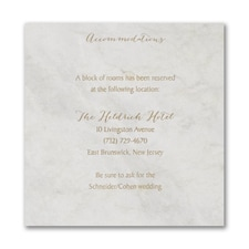 Marble Opulence Accommodation Card