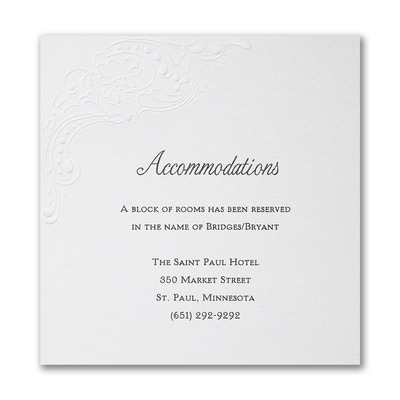 Stunning Flourish Accommodation Card