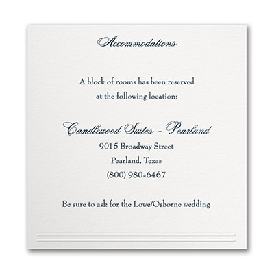 Refined Elegance - Accommodation Card
