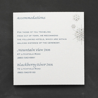 Snowflake Fantasy - Accommodation Card