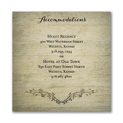 Rustic Charm - Accommodation Card