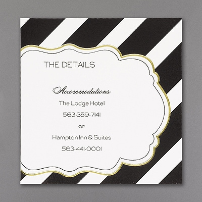 Glamorous Stripes - Accommodation Card