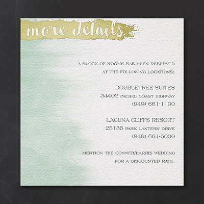 Whimsical Watercolor - Accommodation Card