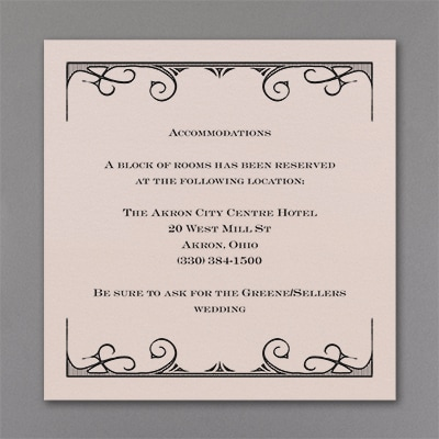 All in the Details - Accommodation Card - Pastel Coral Shimmer