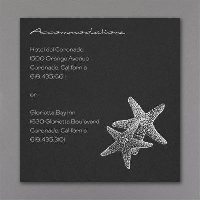 Seaside Duet - Accommodation Card - Black