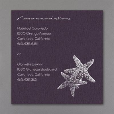 Seaside Duet - Accommodation Card - Raisin Texture