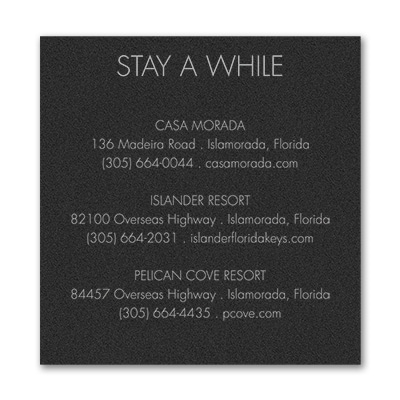 Simply In Love - Accommodation Card - Black Shimmer