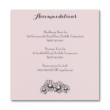 Country Daisies - Accommodation Card - Pink