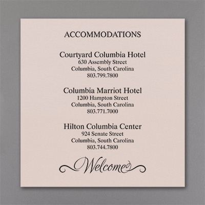 Happy Together - Accommodation Card - Pastel Coral Shimmer