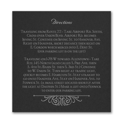 Regal Crest - Accommodation Card - Black