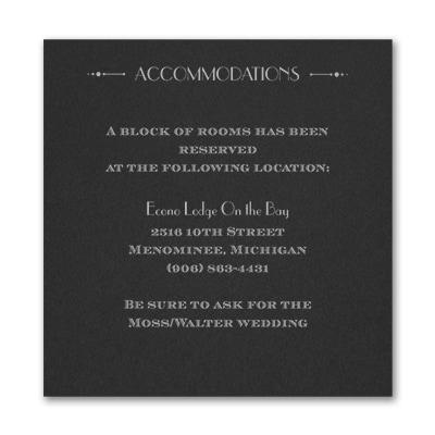 Deco Glamour - Accommodation Card - Black
