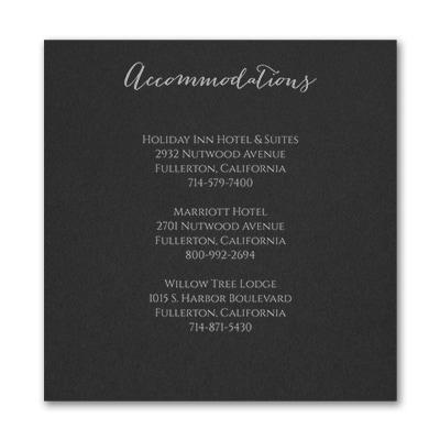 Laugh, Dream, Love - Accommodation Card - Black