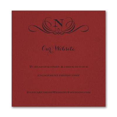 Preferential Design - Accommodation Card - Claret