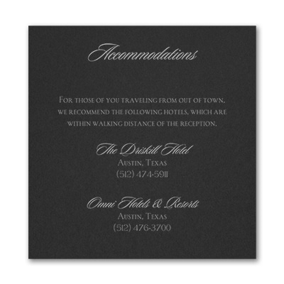 Serene Love - Accommodation Card - Black