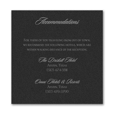 Serene Love - Accommodation Card - Black Shimmer