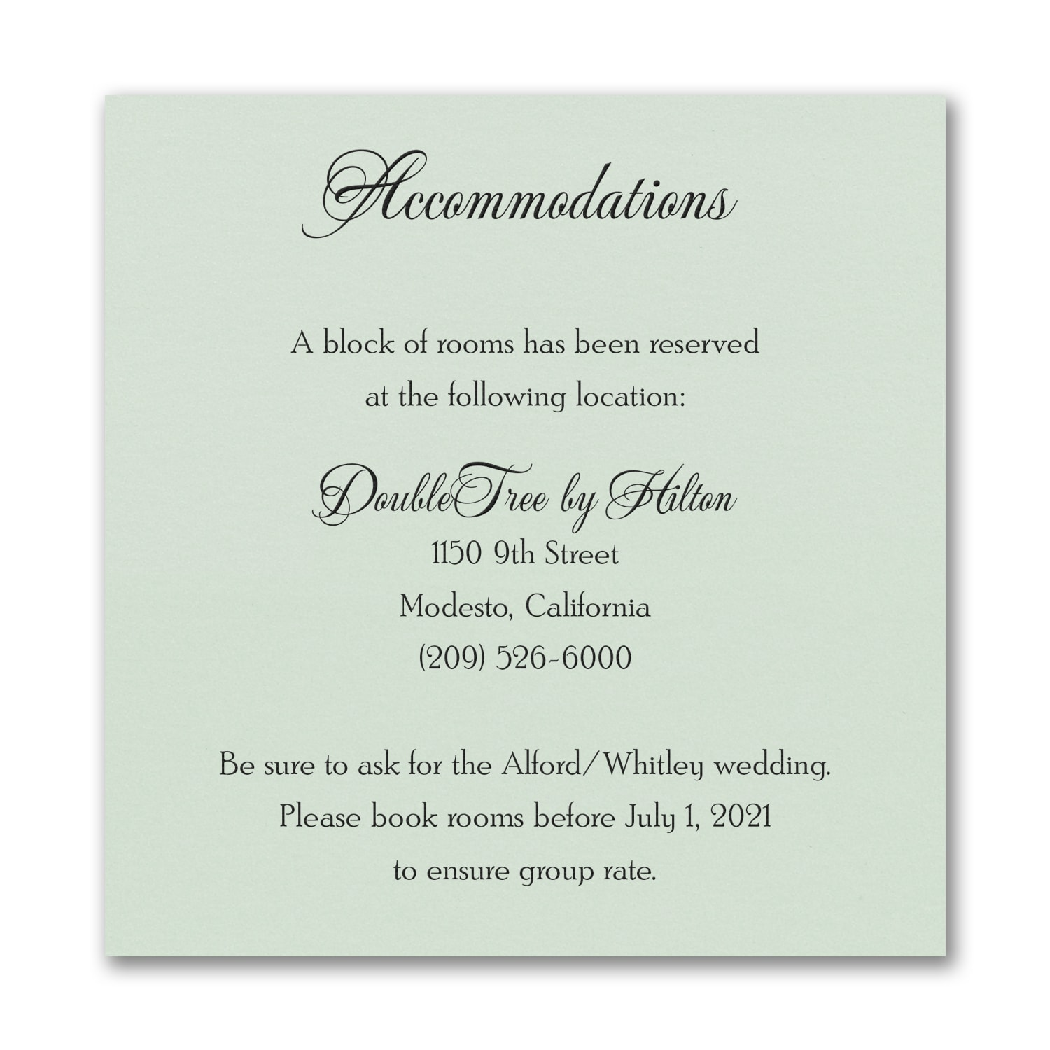 Timeless Sophistication - Accommodation Card - Mint Shimmer > Map ...