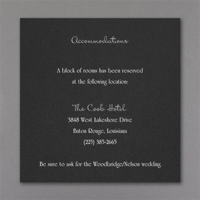 Genuine Love - Accommodation Card - Black