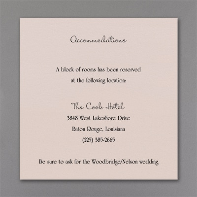 Genuine Love - Accommodation Card - Pastel Coral Shimmer