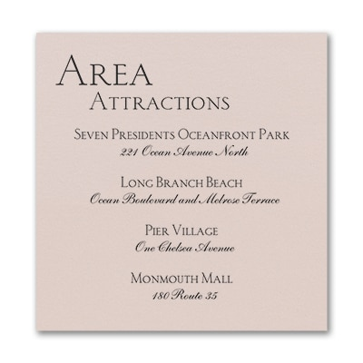 Sophistication - Accommodation Card - Pastel Coral Shimmer