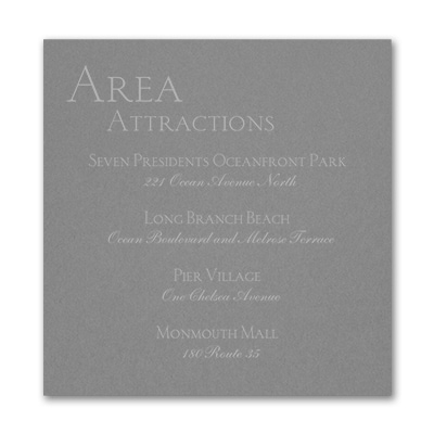 Sophistication - Accommodation Card - Slate