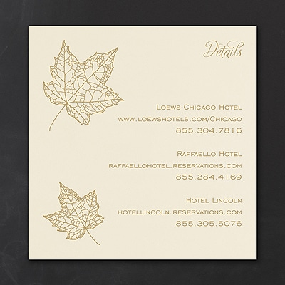 Golden Leaves - Accommodation Card