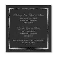 Border and Stripes Accommodation Card - Black