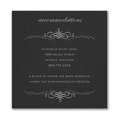 Beautiful Crest Accommodation Card - Black