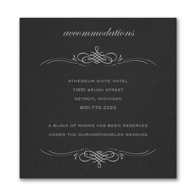 Beautiful Crest Accommodation Card - Black