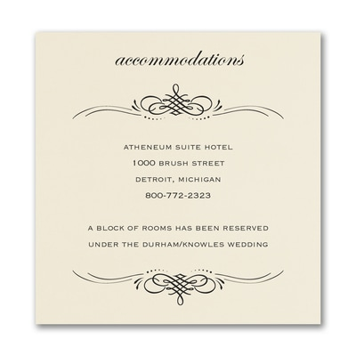 Beautiful Crest Accommodation Card - Ecru