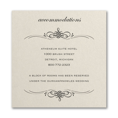 Beautiful Crest Accommodation Card Ecru Shimmer Map