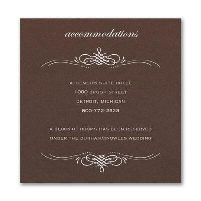 Beautiful Crest Accommodation Card - Mocha Shimmer