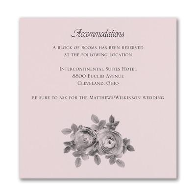 Enchanting Roses Accommodation Card - Pink