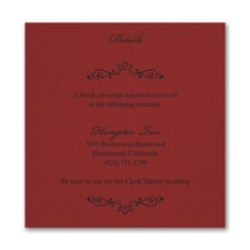 Wedding Bliss Accommodation Card - Claret