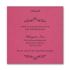 Wedding Bliss Accommodation Card - Fuchsia