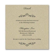 Wedding Bliss Accommodation Card - Kraft