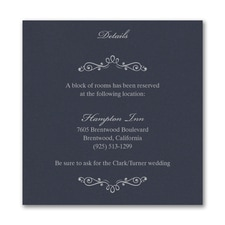 Wedding Bliss Accommodation Card - Navy