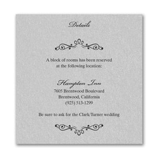 Wedding Bliss Accommodation Card - Silver Shimmer