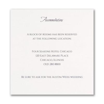 Geo Heart - Accommodation Card