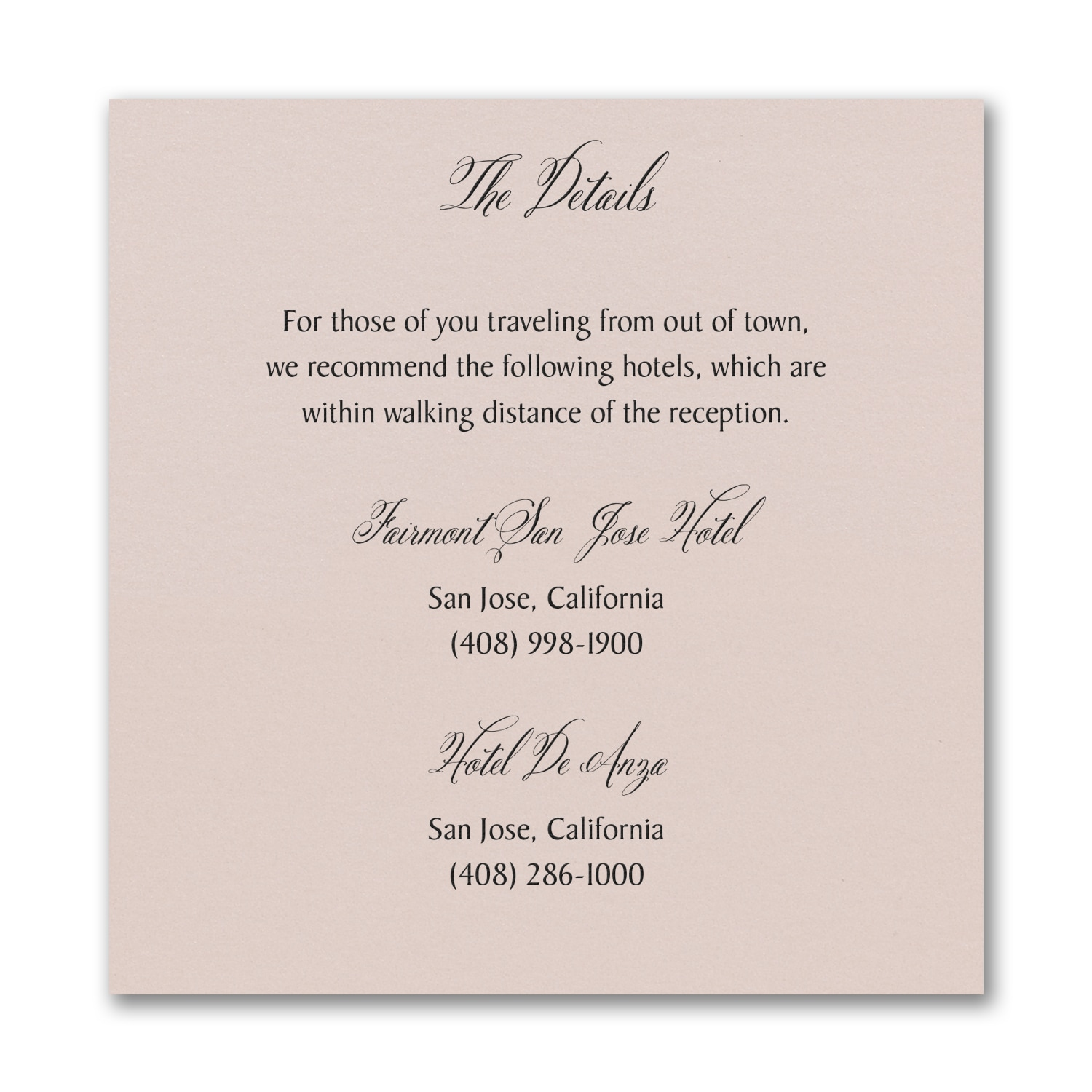 Regal Type Accommodation Card Pastel Coral Shimmer Map