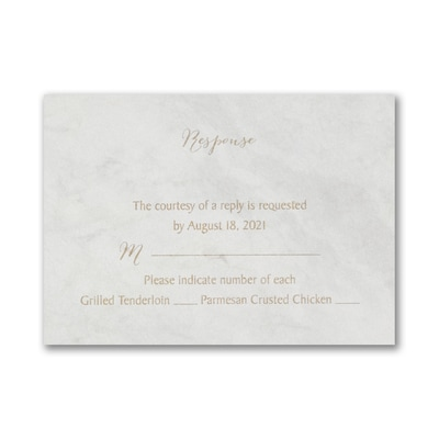 Marble Opulence Response Card and Envelope