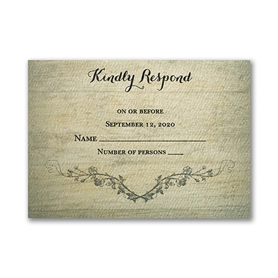 Rustic Charm - Response Card and Envelope