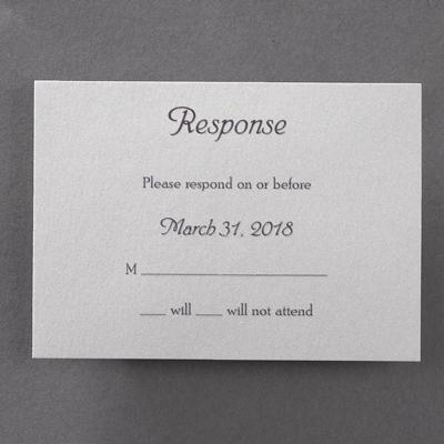 Rustic Wood - Response Card and Envelope