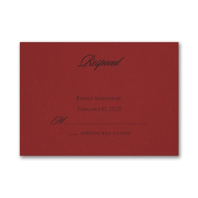 Serene Love - Response Card and Envelope - Claret
