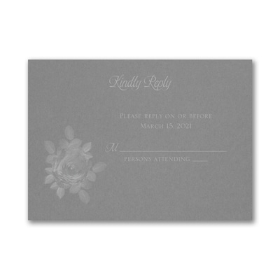 Enchanting Roses Response Card and Envelope - Slate