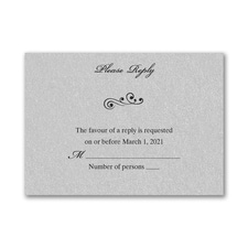 Wedding Bliss Response Card and Envelope - Silver Shimmer